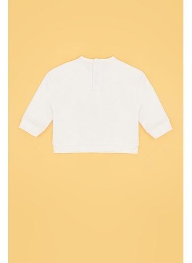 BG Baby Kız Bebek Ekru S-Shirt 20Pfwbg2408 Ekru